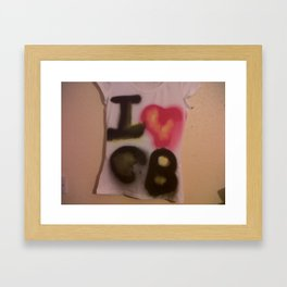 I Love C-B Spray Paint Logo Art Print. Framed Art Print