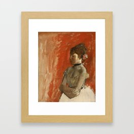 Ballet Dancer with Arms Crossed Framed Art Print