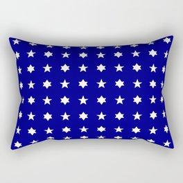 stars 84 - dark blue and white Rectangular Pillow