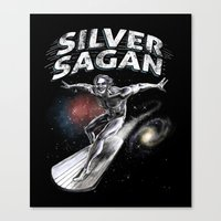 sagan Canvas Prints featuring Silver Sagan by The Cracked Dispensary