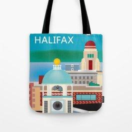 Halifax, Nova Scotia, Canada - Skyline Illustration by Loose Petals Tote Bag