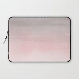 Blushing Pink & Grey Watercolor Laptop Sleeve