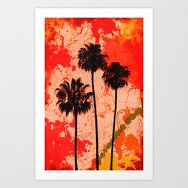 Palm Tree Paint Art Print