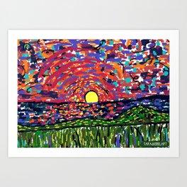 impressionistic Sunset Art Print