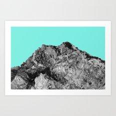 Mountain Cyan Art Print