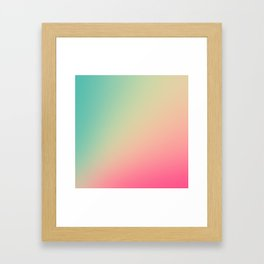Gradient Colours: Turquoise Pink Pastel Framed Art Print