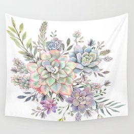 succulent watercolor 8 Wall Tapestry