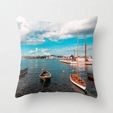 Oslo Boats Throw Pillow
