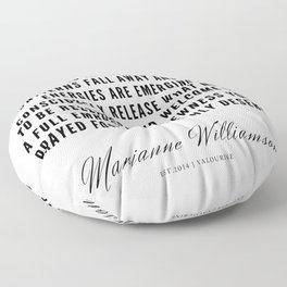 37   |  Marianne Williamson Quotes | 190812 Floor Pillow