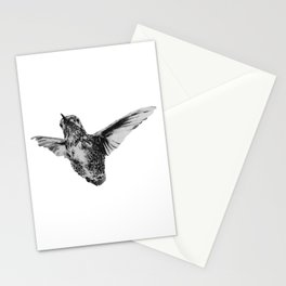 Hummingbird in flight by annmariescreations Stationery Cards