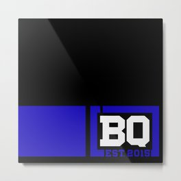 BQ - Flagging Navy Blue Metal Print