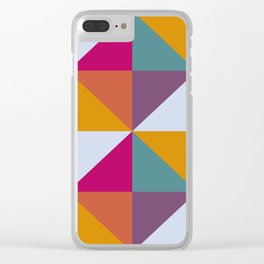 Geometric Flow Clear iPhone Case