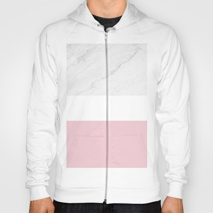 Marble And Dusty Pink Hoody