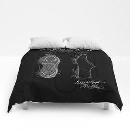 Baseball Cleat Patent - Black Comforters