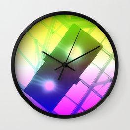 Urban Psychedelic Lights Wall Clock