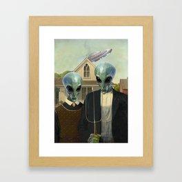 American Alien/Alien Gothic Framed Art Print