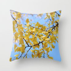 Smiling Drop in Purple Throw Pillow
