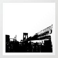 BK Bridge Art Print