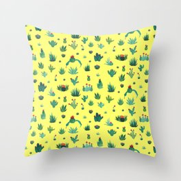 little cacti Throw Pillow