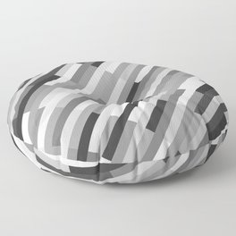 Bricks Rotate 45 Black and White Floor Pillow