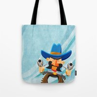 dwight Tote Bags featuring Dwight McStetson by Rabassa