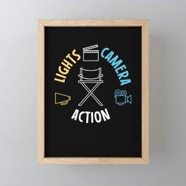 Lights Camera Action Framed Mini Art Print