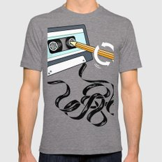 Back in the Day Mens Fitted Tee Tri-Grey MEDIUM