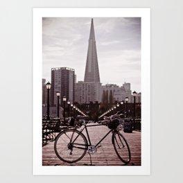 San Francisco Bike Art Print
