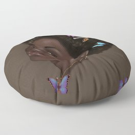 Lady Butterfly  Floor Pillow