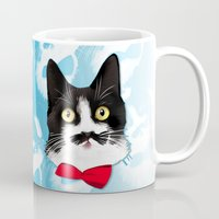 muppet Mugs featuring Muppet the Moustached Cat by EggsBFF