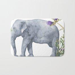 Elephants On Parade Illustration - Bagaceous Bath Mat