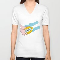 argentina V-neck T-shirts featuring Argentina Rugby by mailboxdisco