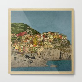 Of Houses and Hills Metal Print