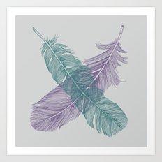 X Feathers Art Print
