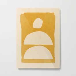 Minimal Abstract Art 24 Metal Print