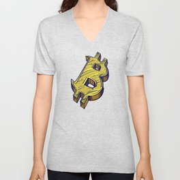 Bitcoin Color Illustration Unisex V-Neck