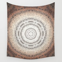Vintage Ancient Words Mandala Wall Tapestry