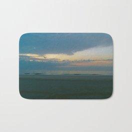 Blue Sunrise on Tybee Island Beach Bath Mat