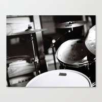 drums Canvas Prints featuring Drums by TomP