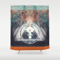 2015 Shower Curtains featuring 2015 ? by Jesse Rather
