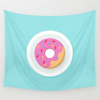 donut Wall Tapestries featuring Donut by Marko Stupic