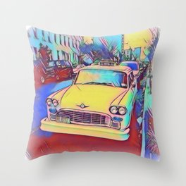 Retro Classic Car Throw Pillow
