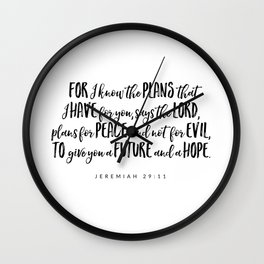 Jeremiah 29:11 - Bible Verse Wall Clock