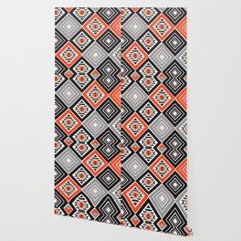 Aztec geometry with diamonds Wallpaper