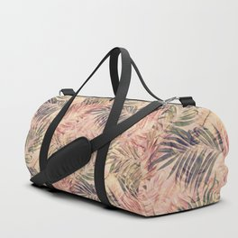 Palm Leaves in pink Duffle Bag