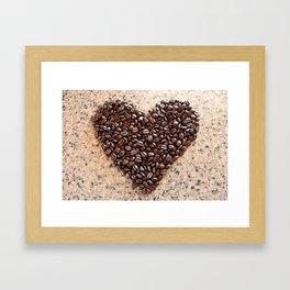 Coffee Heart Framed Art Print