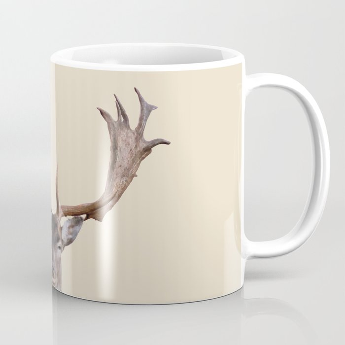 Reindeer Head Illustration Coffee Mug