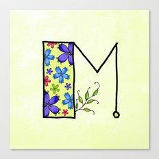 M m Canvas Print