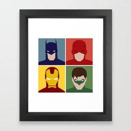 Minimalist Heroes Framed Art Print