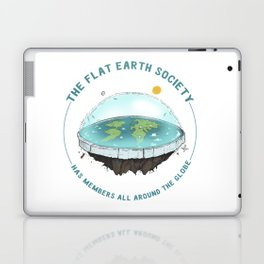 The Flat Earth has members all around the globe Laptop & iPad Skin